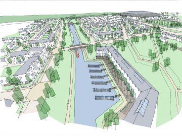 Edinburgh's Garden District - Canal view - artists impression