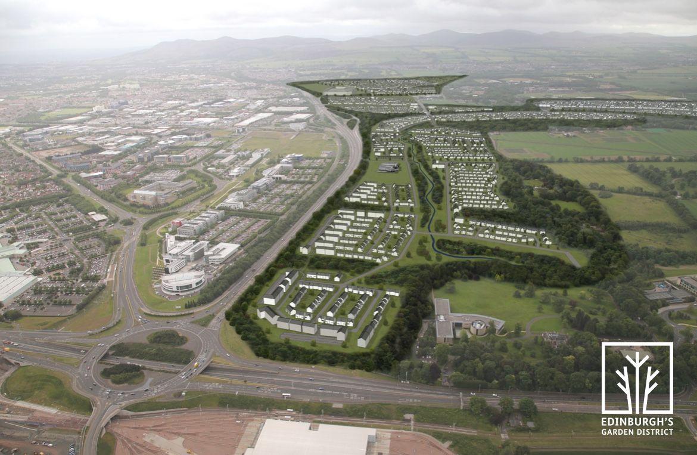 Edinburgh's Garden District aerial and plan