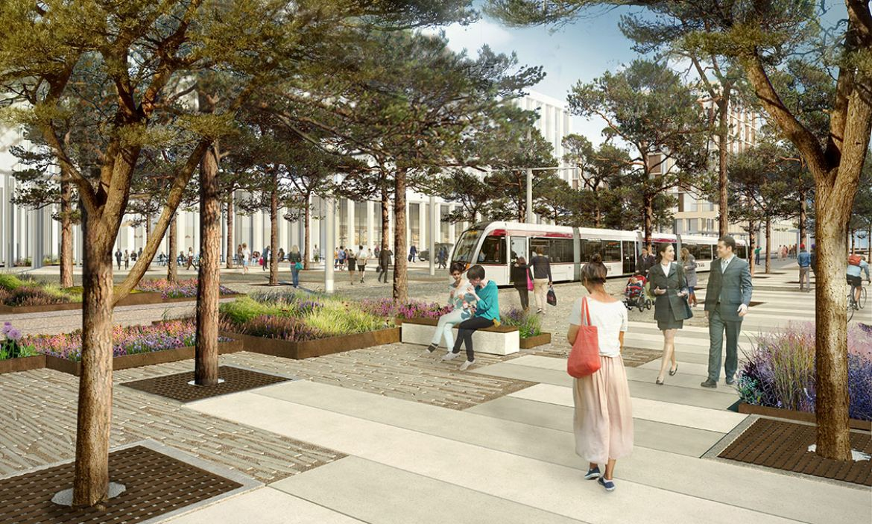 EIBG tram space - artists impression