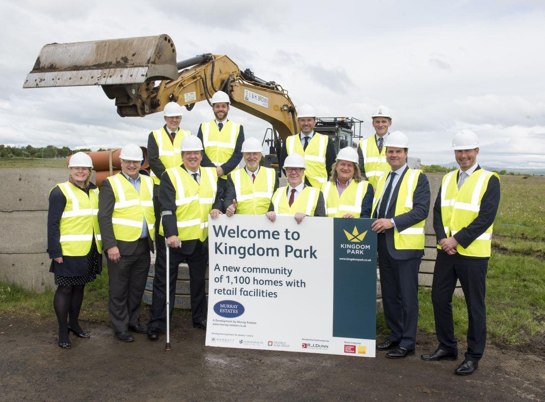Opening ceremony at Kingdom Park development, Kirkcaldy